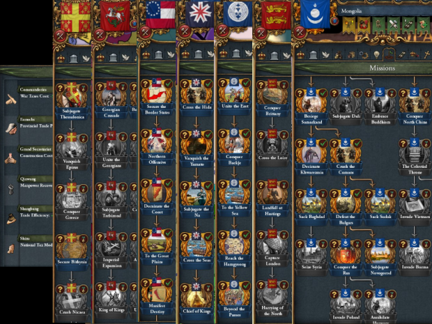 More Missions: Extended Timeline