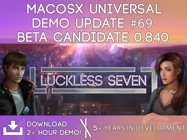 Luckless Seven Beta Candidate 0.840 for MacOSX