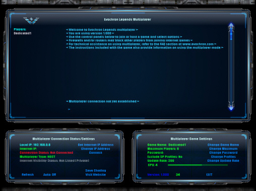 Evochron Legends Server Program Version 1.108