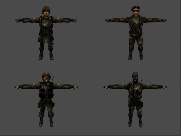 Serbian Army models