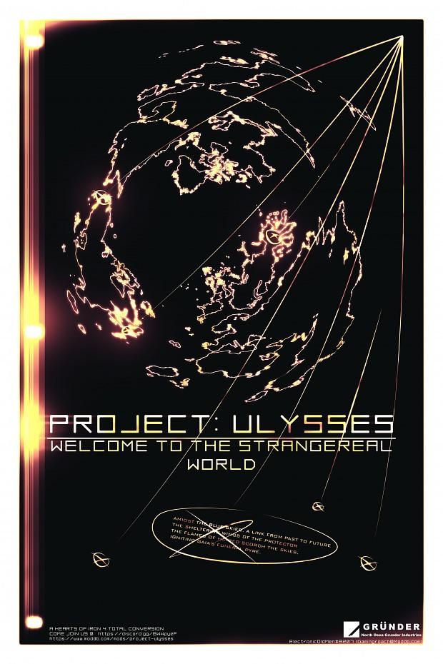 Project Ulysses Promo Art Poster. DIY Print Size.