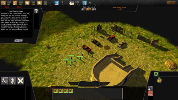 """Version 0.3.0.0 (Pre-Alpha-Demo) of the RTS Game """"The Last Humans"""""""