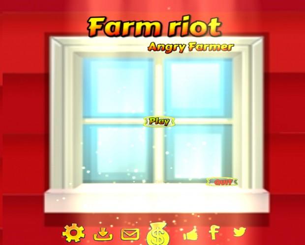 Farm riot angry farmer