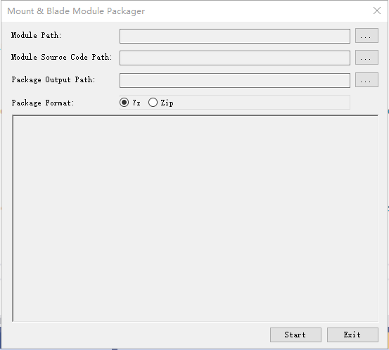 Mount Blade Module Packager