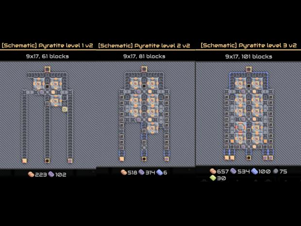 Compact upgradable schematics