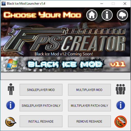 Black Ice Mod v11 Launcher