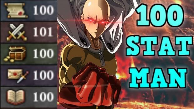 100 Stat man