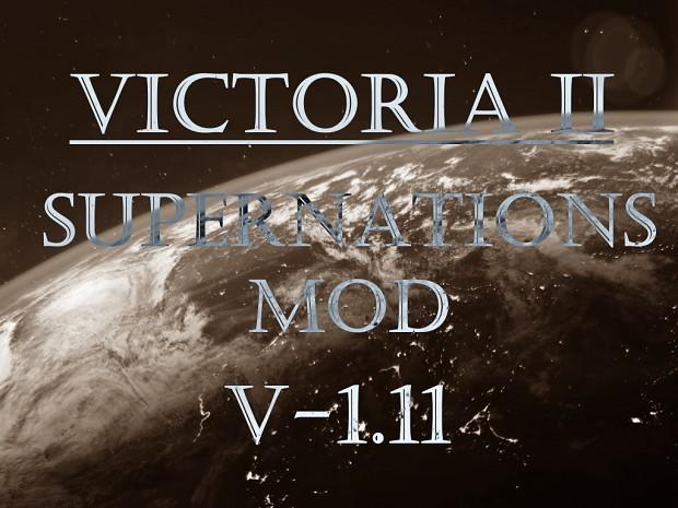 Victoria II: Supernations Mod v. 1.11