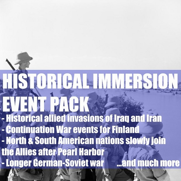 Historical Immersion Event Pack For Beautiful States Reborn