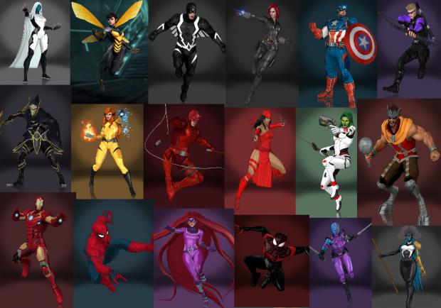 (FULL) Marvel Ultimate Alliance 3 3d models pack XNA