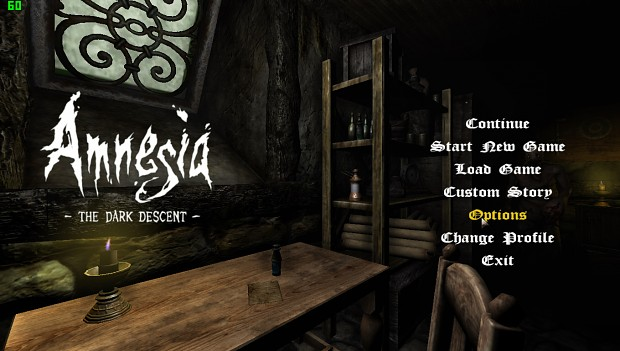 Cellar Main Menu