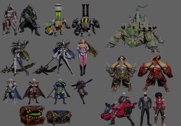 OverHit 3d Models Pack Part 2