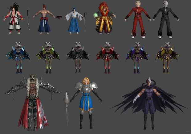 King of Fighters 3d Models