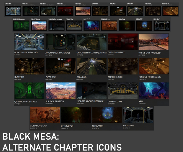 Black Mesa Personal Chapter Icons