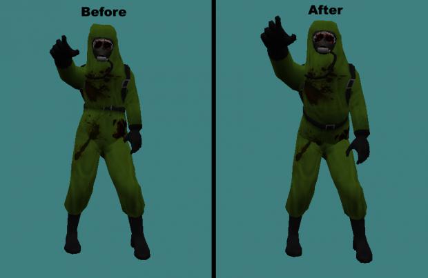 Improved Hazmat Zombie Surprise Jumpscare Animation Tweak