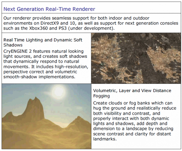 CryENGINE 2 features