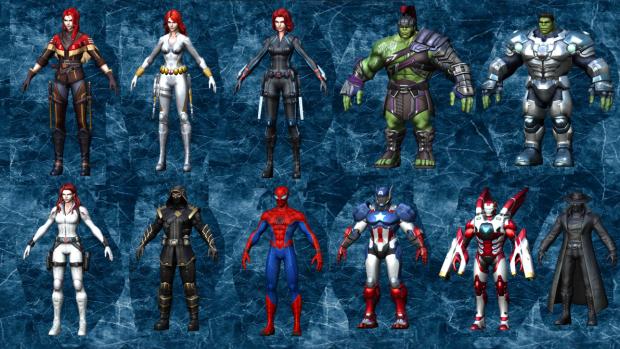 Marvel Super War 3D Models