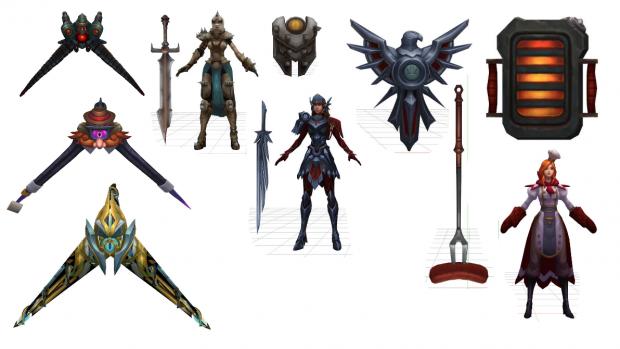 (Skins) League Of legends 3D Models