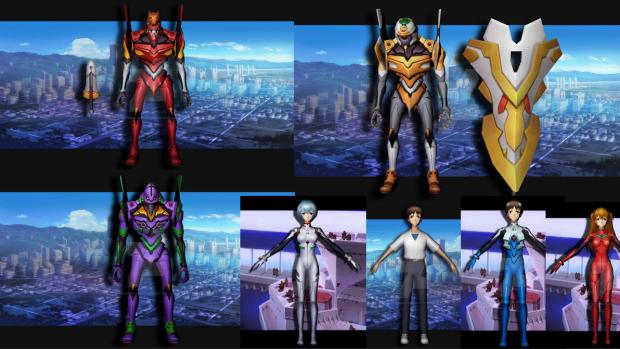 Neon Genesis Evangelion Online 3D Models