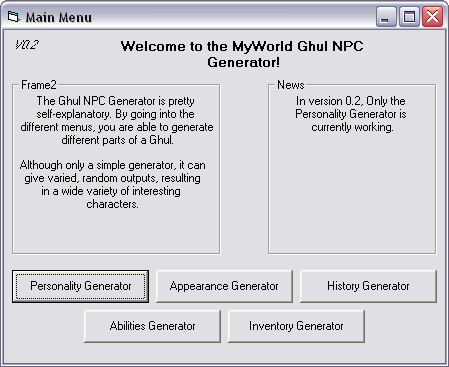 MyWorld NPC Generator V0.4