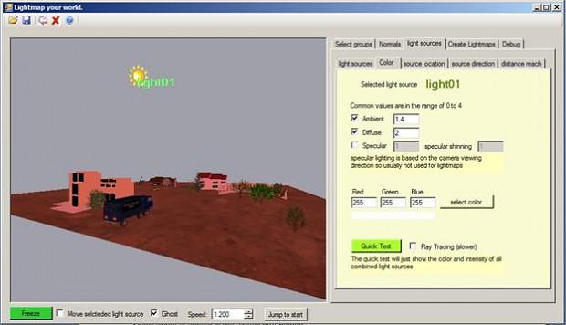 Lightmap Your World application