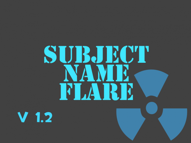 Subject Name Flare 1.2