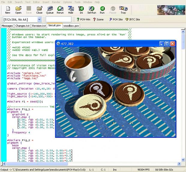 POV-Ray Linux
