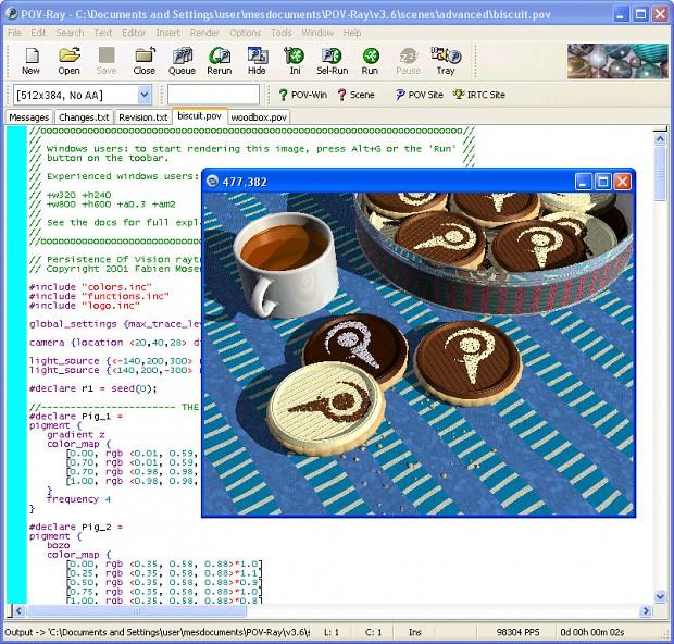 POV-Ray Windows source