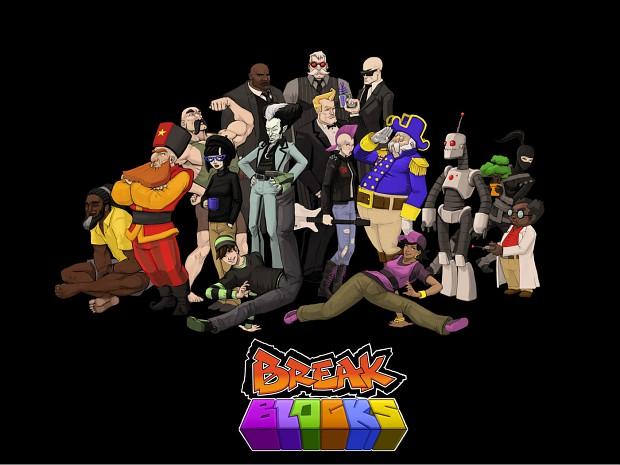Break Blocks Characters and Logo Widescreen