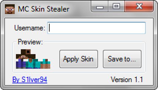 Minecraft Skin Stealer/Downloader V1.1