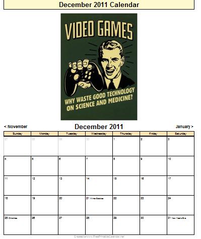 VGAR Calendar