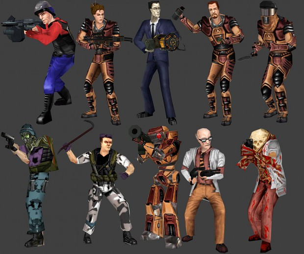 Half-Life Deathmatch: Source Playermodels
