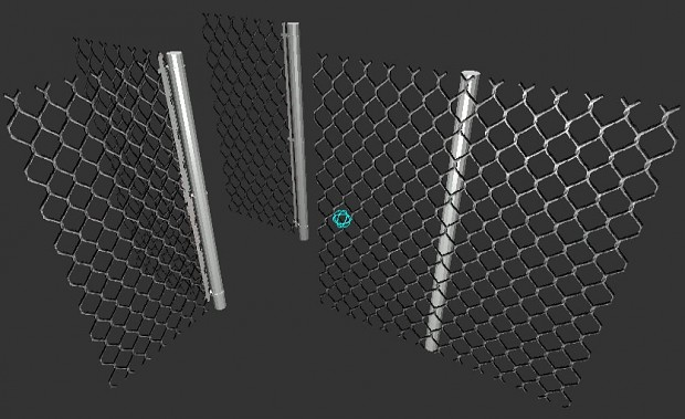 Chain-linked Fence Set