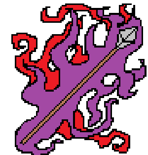 Haunted ghostly spear