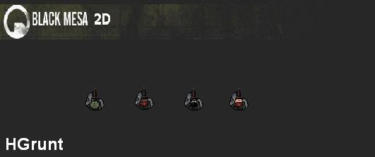 Black Mesa 2D Hgrunts NPC Pack
