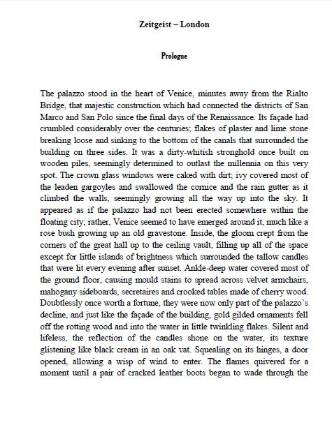 'Zeitgeist 1934', Prologue.