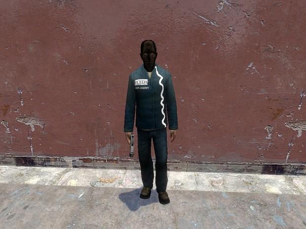 C.E.D.A agent (No Hazmat) with mask