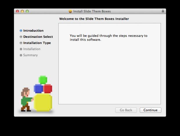 Slide Them Boxes - Mac OS X Installer