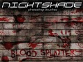 Nightshade blood splatter brushes