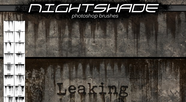 Nightshade leaking brushes