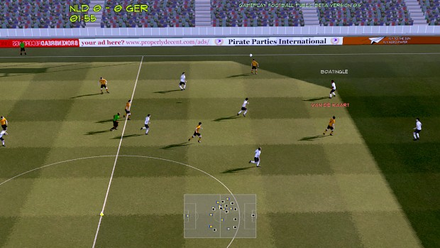 Gameplay Football public beta 0.8 (Linux version)