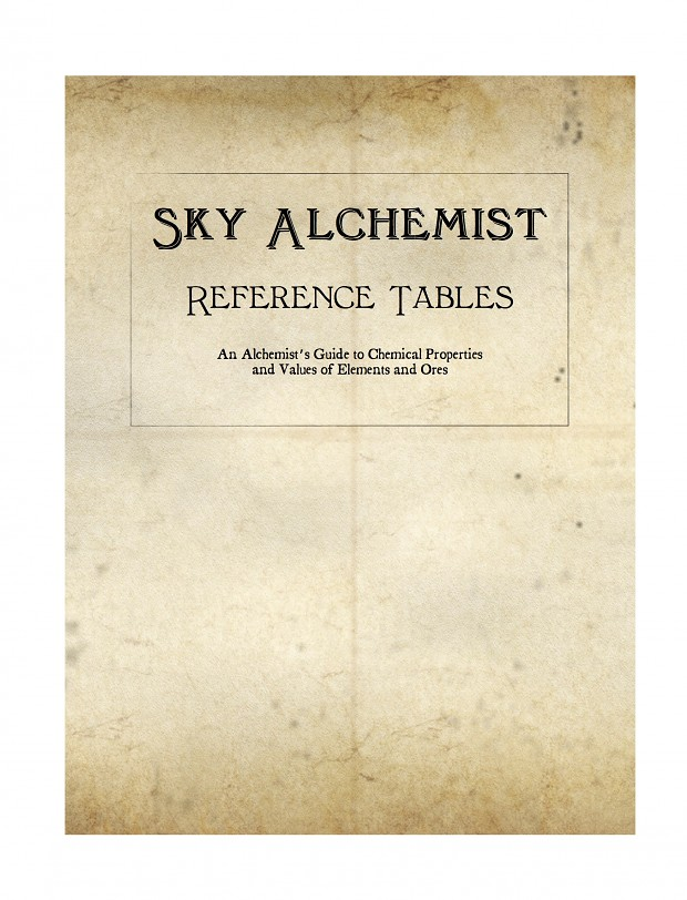 Sky Alchemist Reference Tables