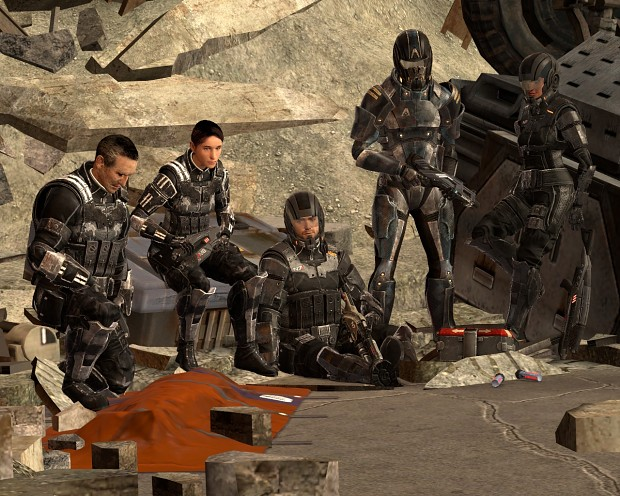 Mass Effect 3 Alliance soldiers