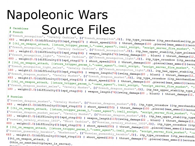 Napoleonic Wars - Source Code-