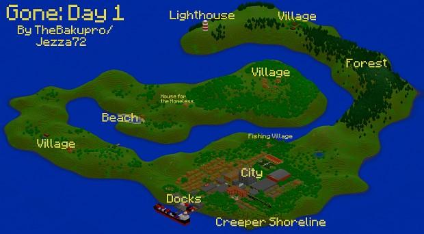 Gone: Day 1 (DayZ Inspired Custom Map)