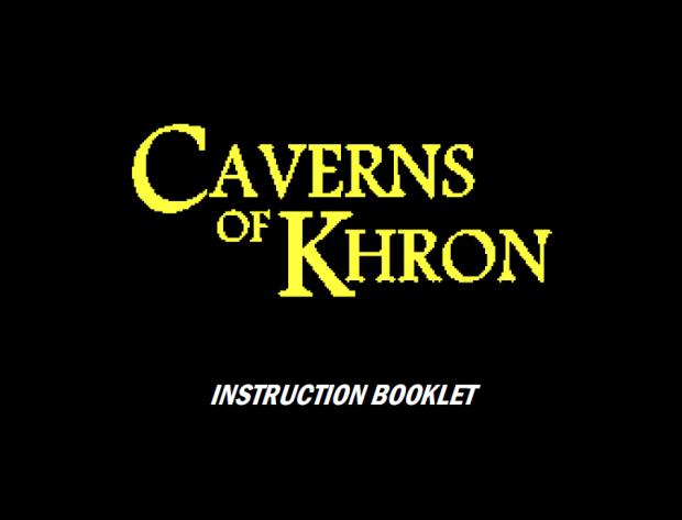 Caverns of Khron Instruction Booklet