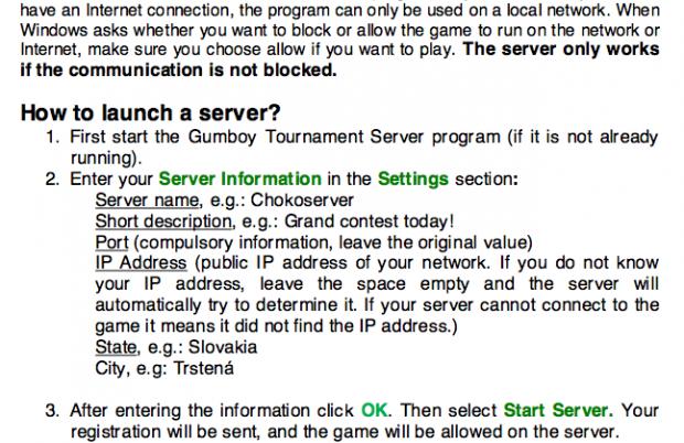 Tournament Server Manual