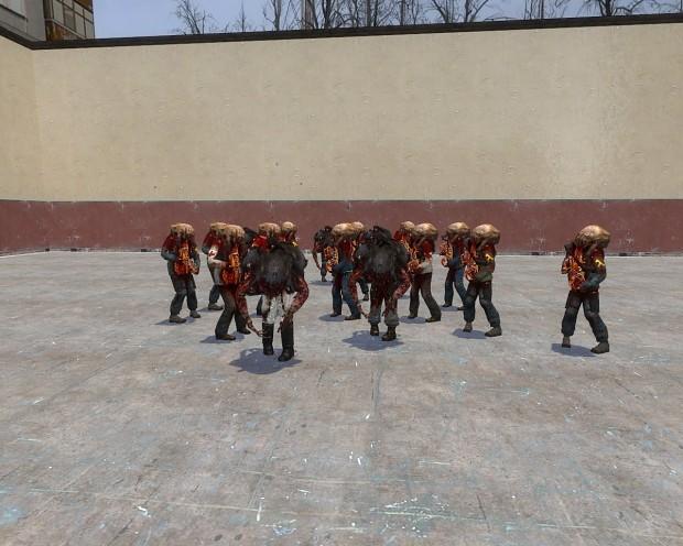 Headcrab Zombie Veriants Mod (Gmod 12)