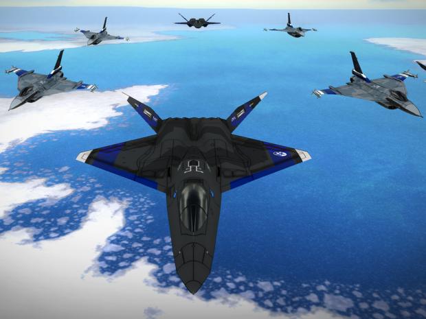 Wizard Squadron (YF-23/F-16XL)