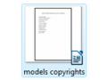 models copyrights